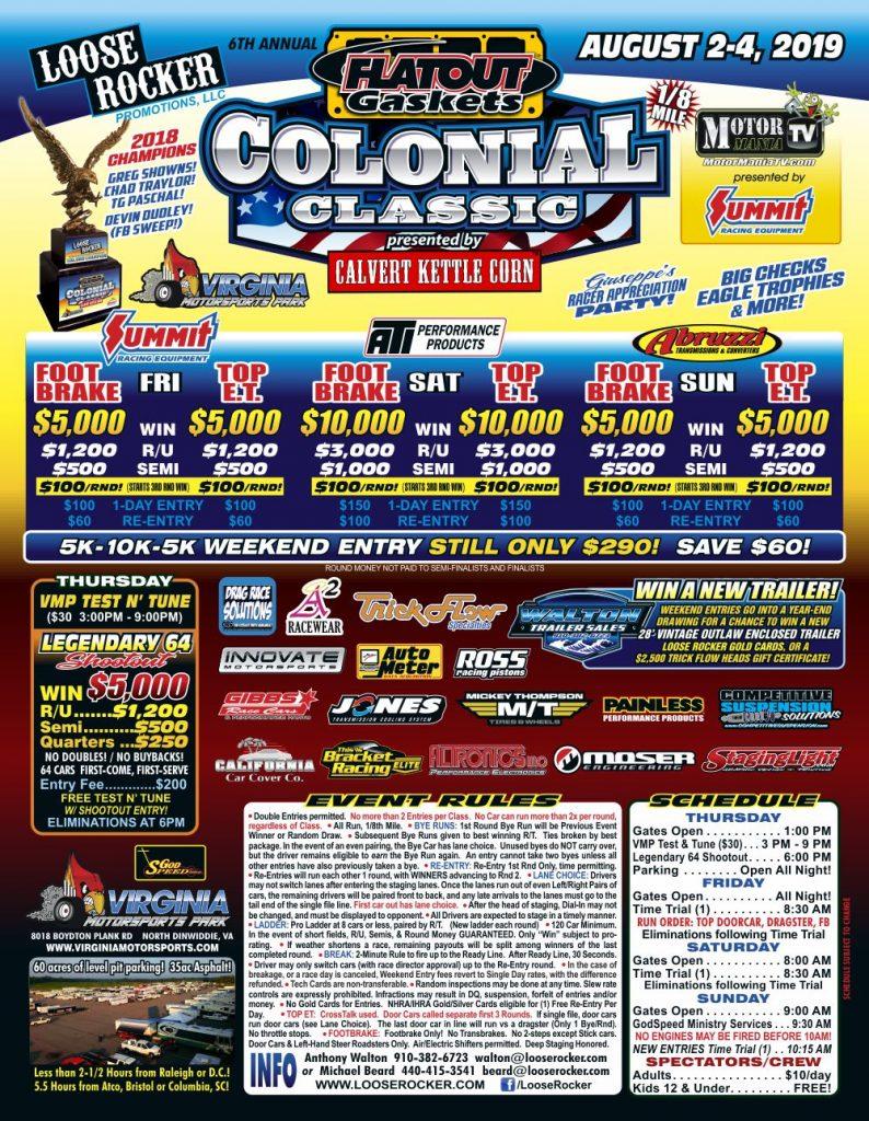 Loose Rocker Colonial Classic 2019 Flyer
