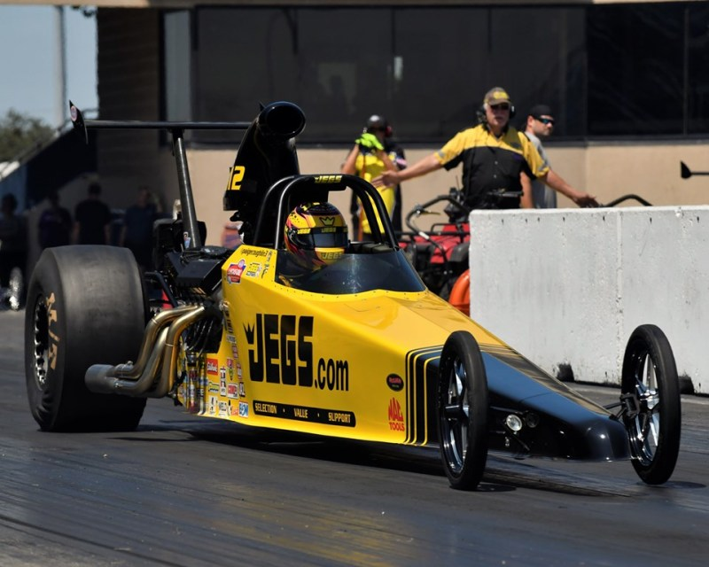 Mike Coughlin Top Dragster Winner burndown at sundown