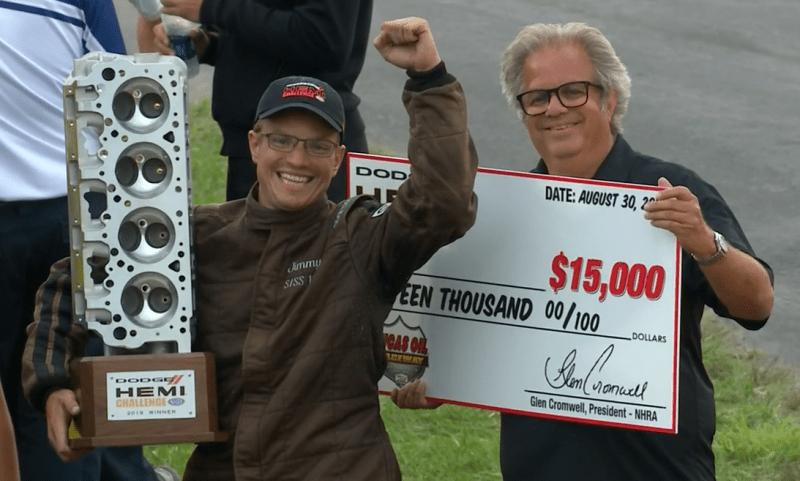 Jimmy Daniels Hemi Challenge trophy check