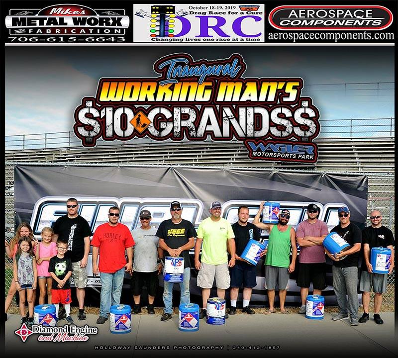 vp racing fuels winners from working mans 10 grands