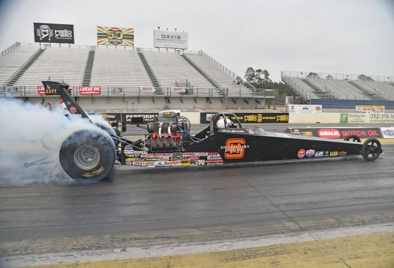 Burnout courtesy of Spradlin Motorsports