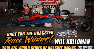 Will Holloman wins dragster at World Series