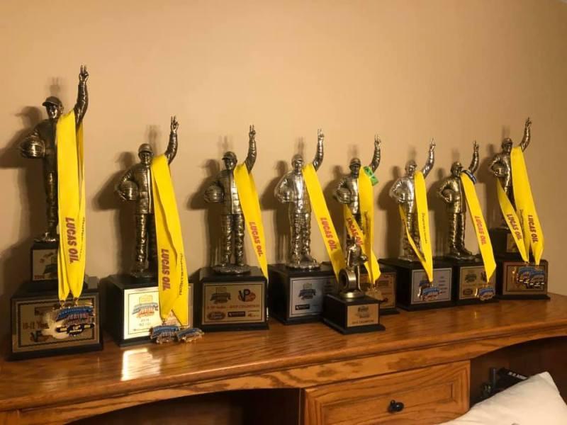 Braden Bowden trophies