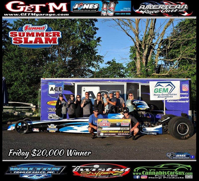 Johnny Brannen ACE summer slam friday 20k winner