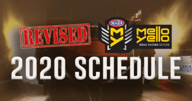 NHRA Revised 2020 Schedule