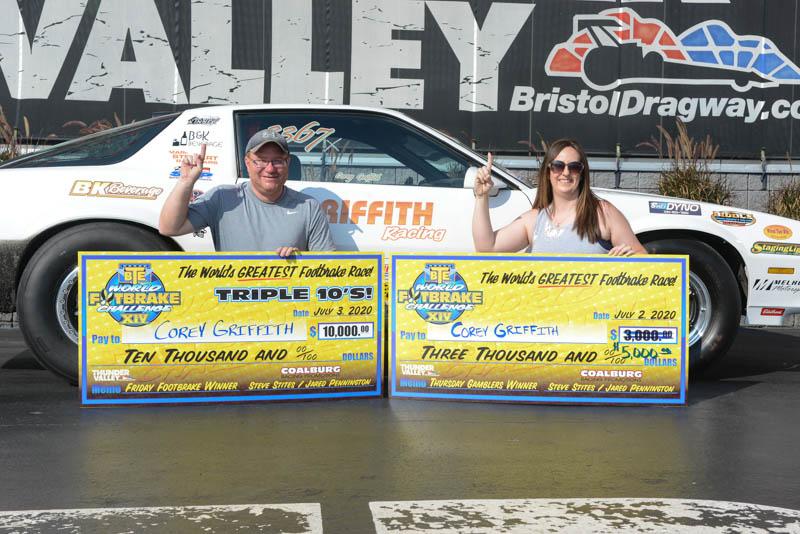corey griffith wfc winner circle thursday gamblers winner friday 10K winner
