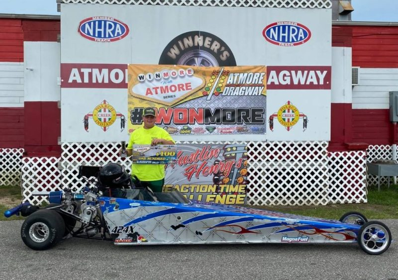 winmore with atmore 13 and up junior dragster runner up ryker cromwell