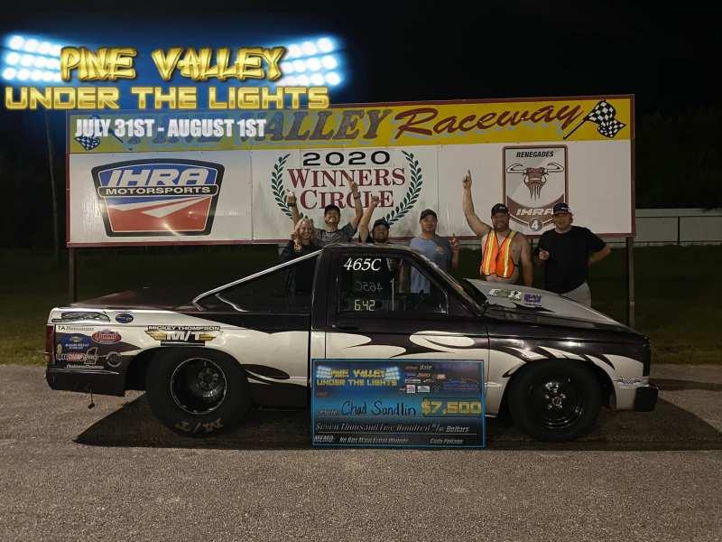pine valley under the lights no box race 1 winner chad sandlin
