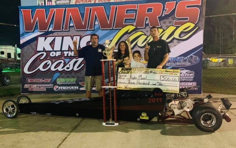 Kyler Morel 7-9 junior dragster sunday winner