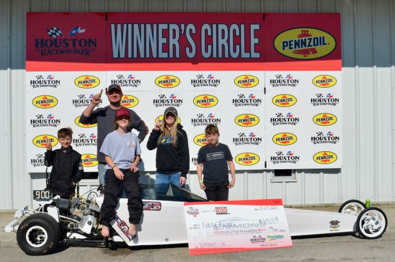 Addy Rogers junior dragster winner saturday texas turkey hunt 2020