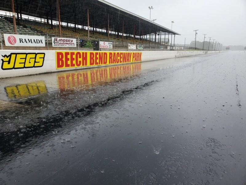 rain at beech bend raceway park