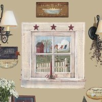 country girl window wall decal