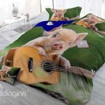 Artistic Guitar Bedding