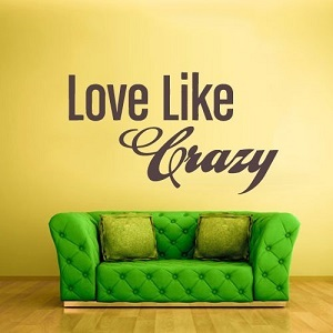 Love Like Crazy Wall Words