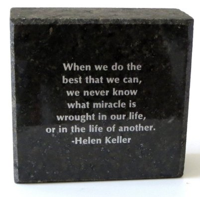 Helen Keller Granite Block Quote