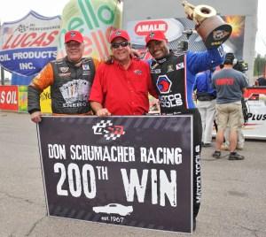 L-R: Johhny Gray, Don Schumacher, Antron Brown