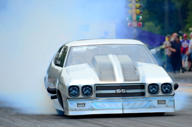 In his PDRA Pro Boost debut, Randy Bryan of Yale, OK, qualified his '70 Chevelle 15th, but fell in the opening round of eliminations to Canada's Eric Latino.