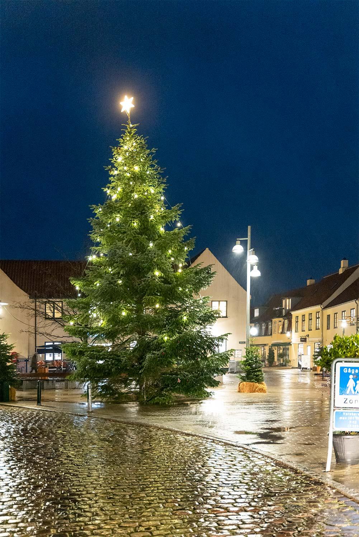 Årets juletræ på Neels Torv. Foto: TorbenStender.
