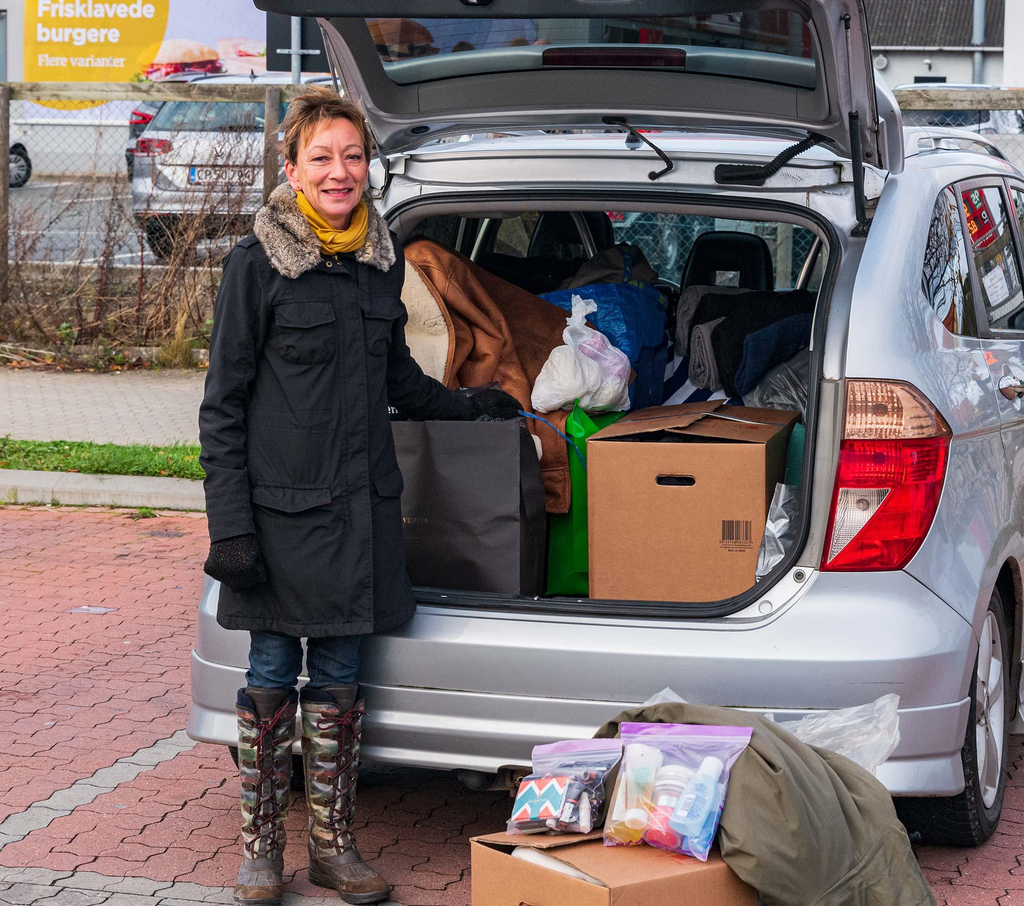 Mette Gjøl ved indsamlingen i efteråret 2020. Arkivfoto: TorbenStender.