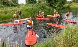 En af de populære aktiviteter er »stand-up-paddle«. Foto: TorbenStender.