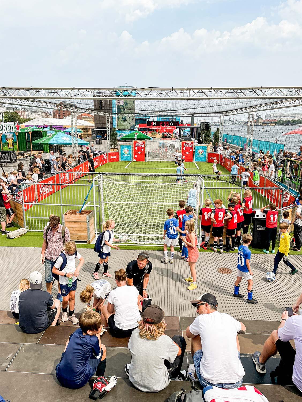 Kunstgræsbanen på Ofelia Plads dannede rammen om CPH Cup.