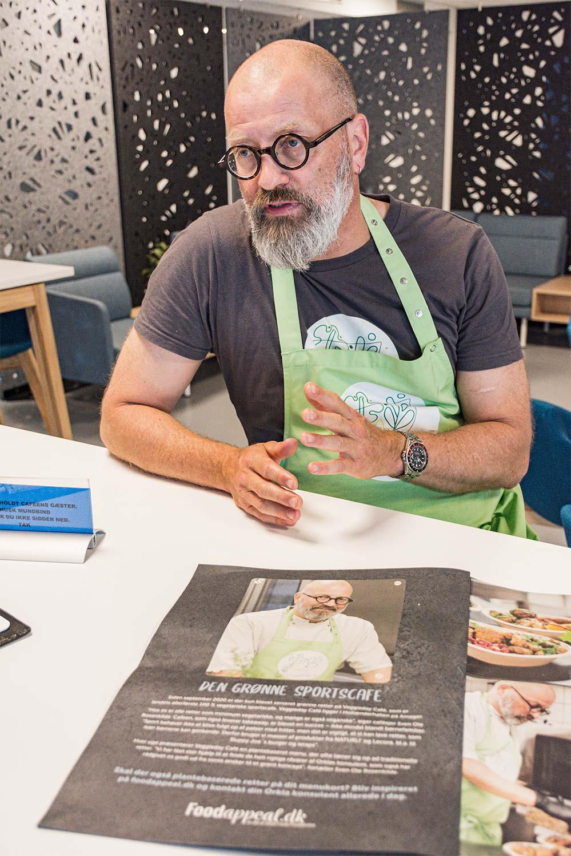 Sven Ole Rosenkildes vegetariske sportscafé har fået megen omtale i hele landet. Foto: Hans Jacob Sørensen.