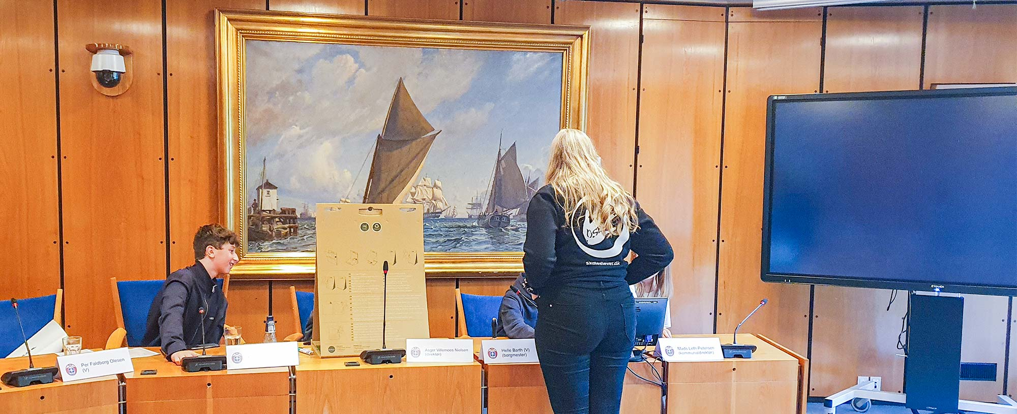 Byrådssalen på Dragør Rådhus var i forrige uge omdannet til arbejdslokale for skolernes fælles elevråd.