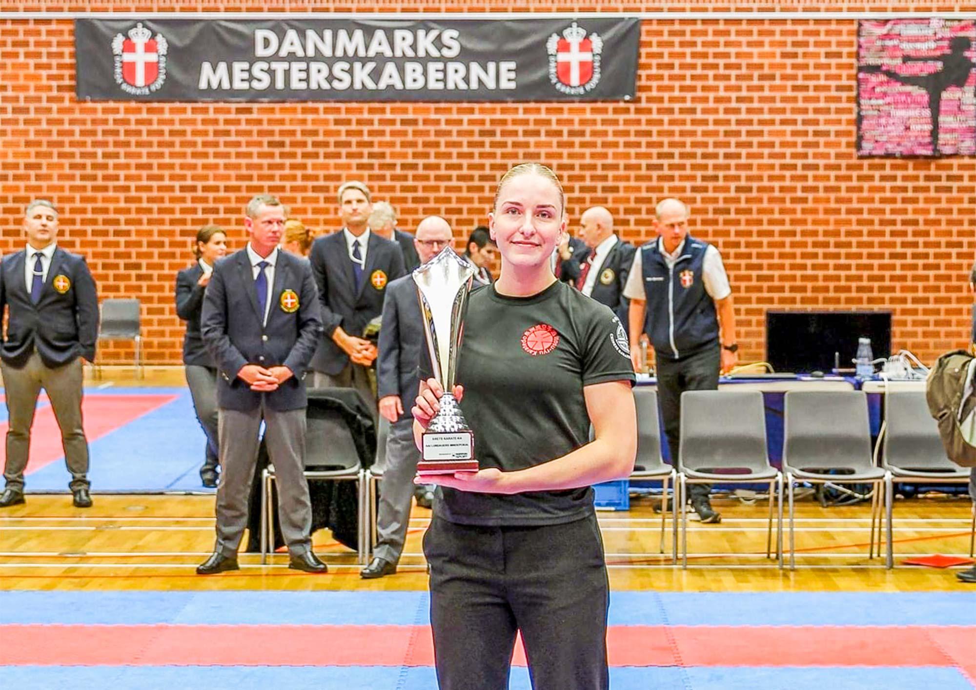 Sempai Josephine Christiansen vandt Kai Lundager-pokalen.