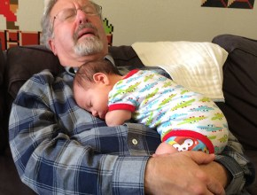 Nap time for Pawpaw and BA