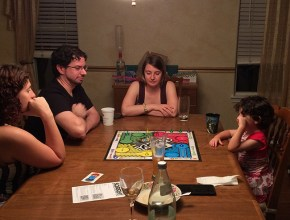 After dessert board games.