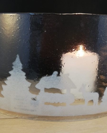 Christmas scenic arch candle screen