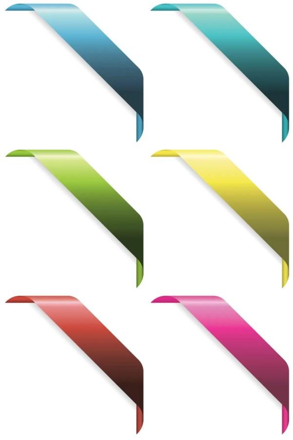 Corner Ribbons Vector Dragonartz Design Moved