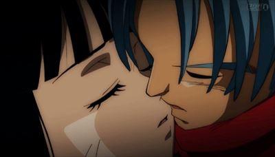 トランクスとマイのキス