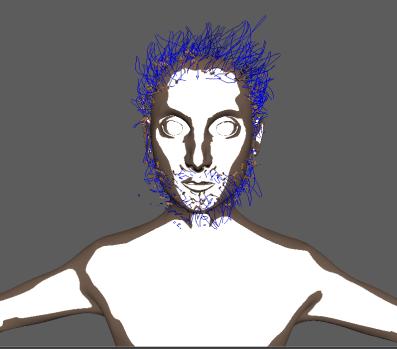man-hair