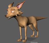 Dog- first pass textures. Not what the team was going for. :(