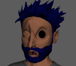 Popeye much? Facial blendshapes are in and do some weird things !