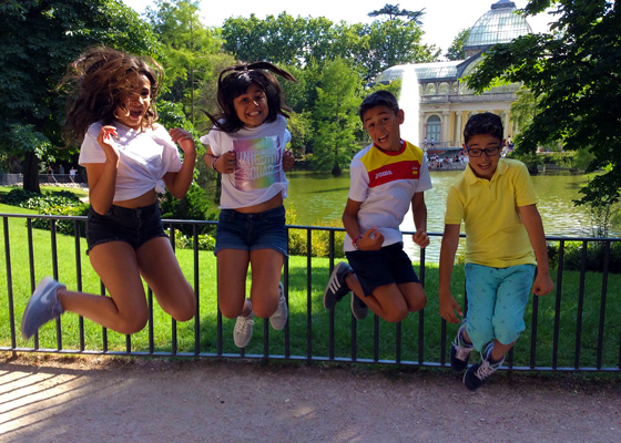 Parque Retiro. Madrid con niños, dragones y unicornios