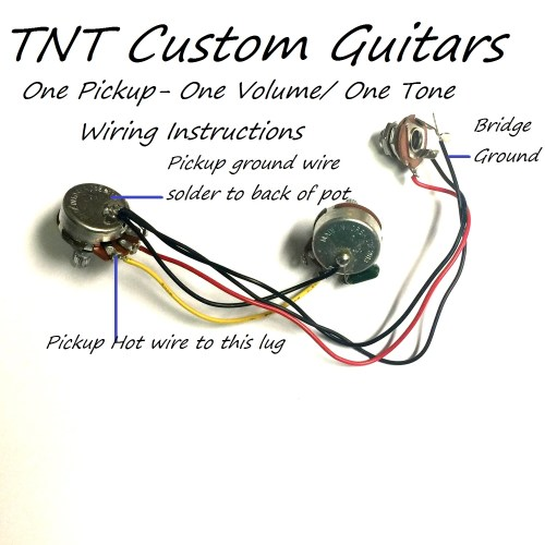 small resolution of wiring harness with one humbucker pickup one twin coil pickup one