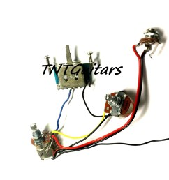 1v1t prewired harness 2 pickup push pull coil cut with 3 way blade switch [ 1500 x 1223 Pixel ]