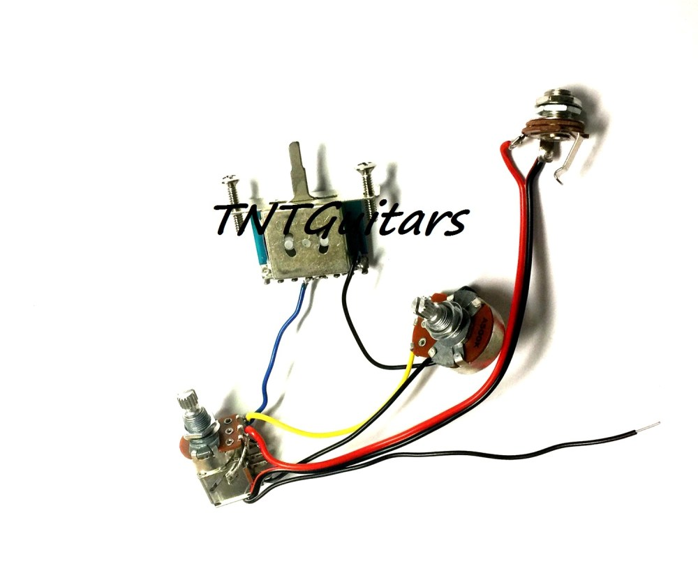 medium resolution of 1v1t prewired harness 2 pickup push pull coil cut with 3 way blade switch