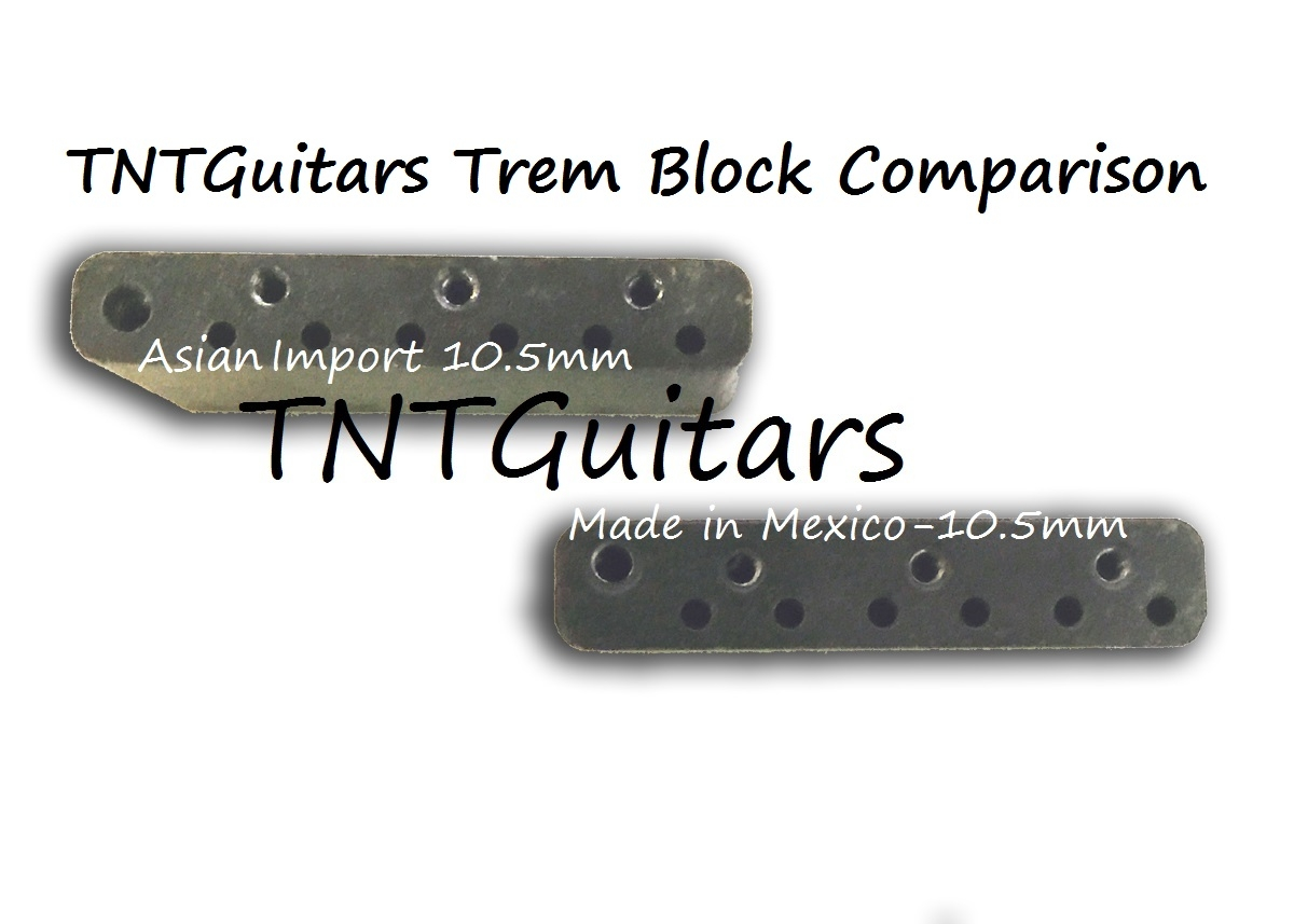 strat trem steel block