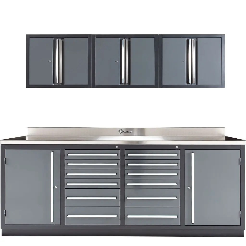 Wall Cabinets for 12 Drawer Midnight Pro Series Workbench