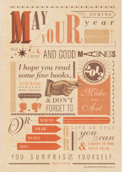 Neil Gaiman New Years Toast poster