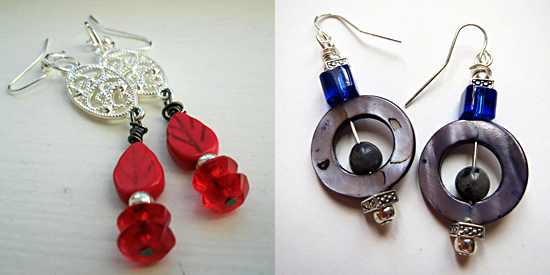 Examples of the jewelry in Emily's shop.