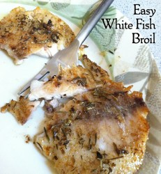 Easy White Fish Broil