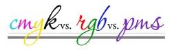 CMYK vs. RGB vs. PMS