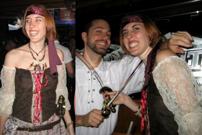 Me as a pirate wench a few years ago.