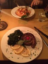 Tasty meal in Florence.