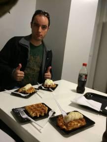 Belgian waffles in Belgium!
