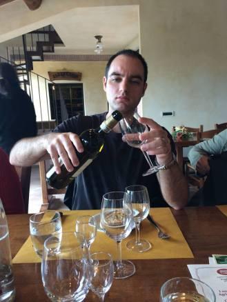 Wine tasting in Tuscany.